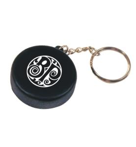 Hockey Puck Keychain
